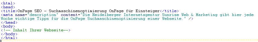 Description im Quellcode