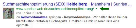 Snippet und Description bei der Suche nach Keywordanalyse Heidelberg