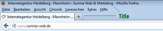 Title im Firefox