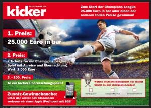 Webdesign Landing Page sportmagazin kicker