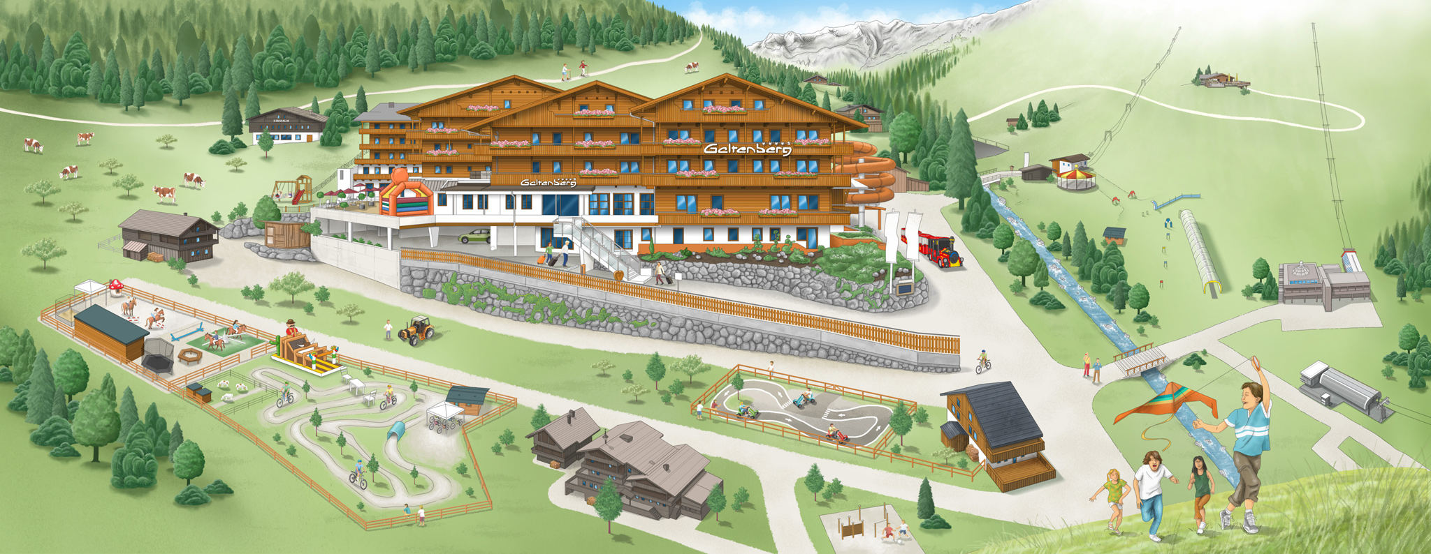 Illustration Webdesign Wellnesshotel Österreich