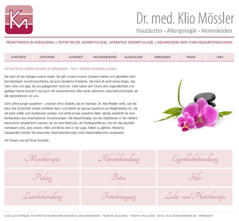 Webdesign Arztpraxis Heidelberg